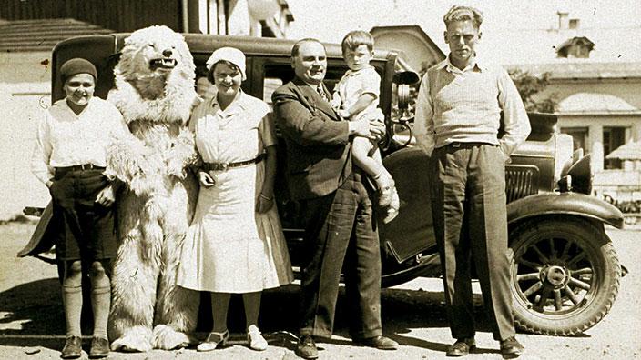 Historisches Foto der Familie Mühlberger um 1930