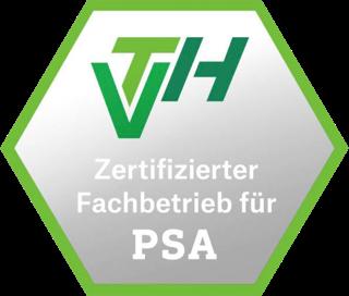 VTH Zertifizierter Fachbetrieb für PSA