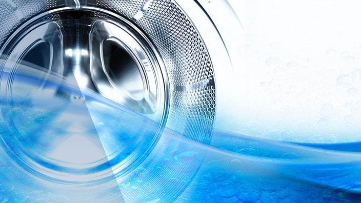 Waschtrommel mit Wasser