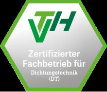 VTH Zertifizierter Fachbetrieb für Dichtungstechnik